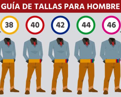 Guía de tallas para pantalones de vestir de hombre