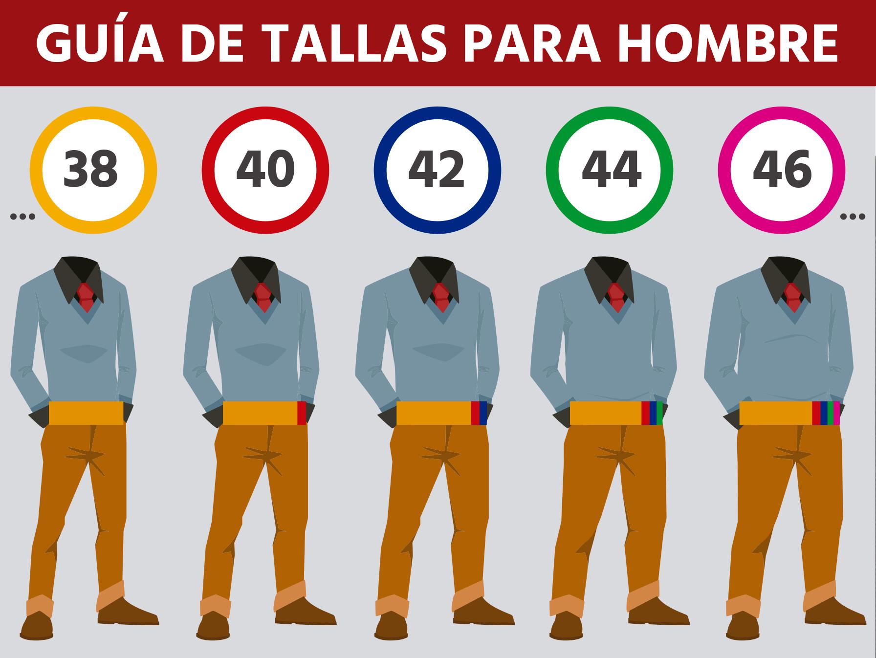 95b84f223 Guía de tallas para pantalones de vestir de hombre - Pantalones Blaper