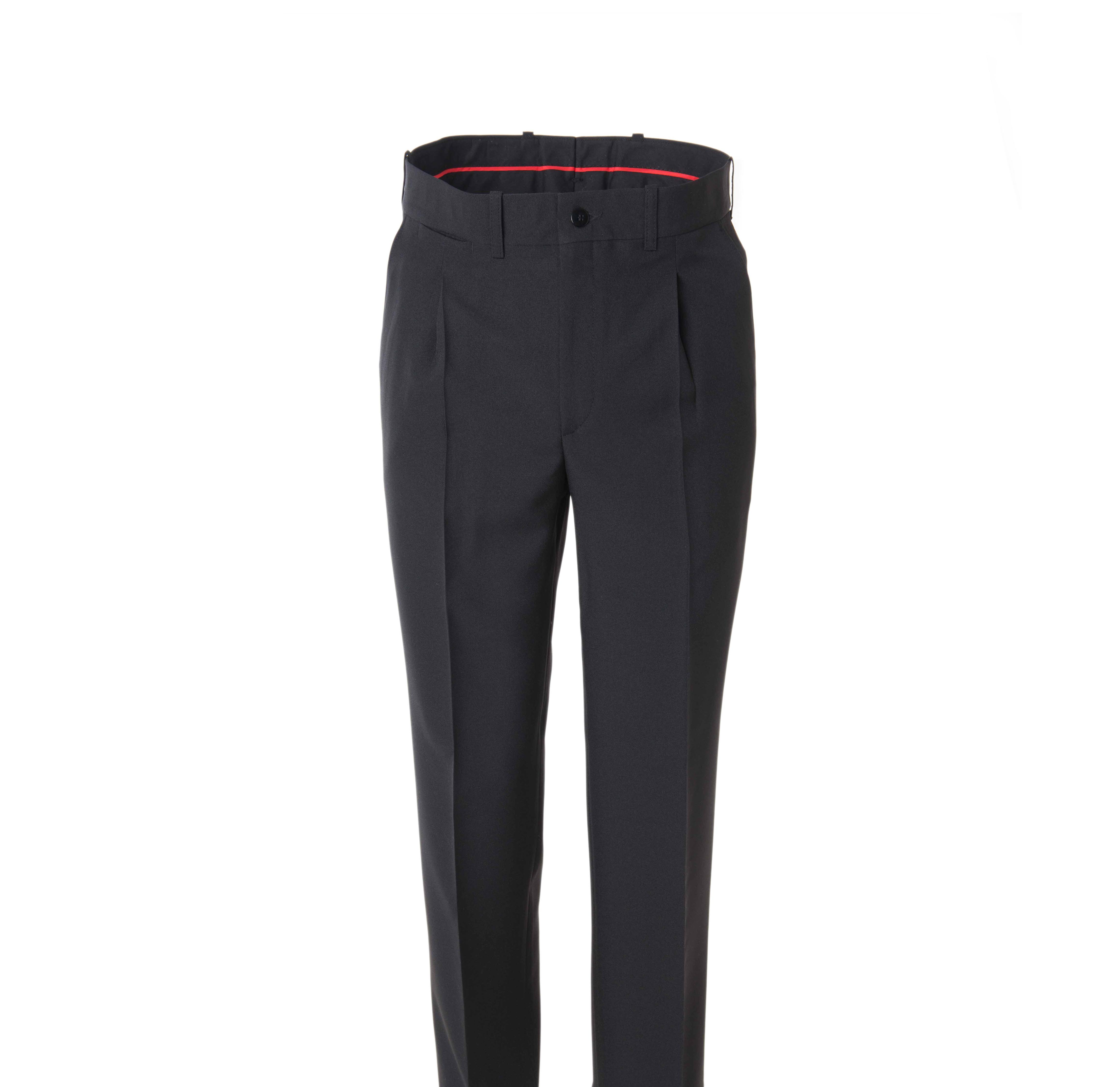 Pantalón Negro Camarero Pantalón Vestir Pinzas