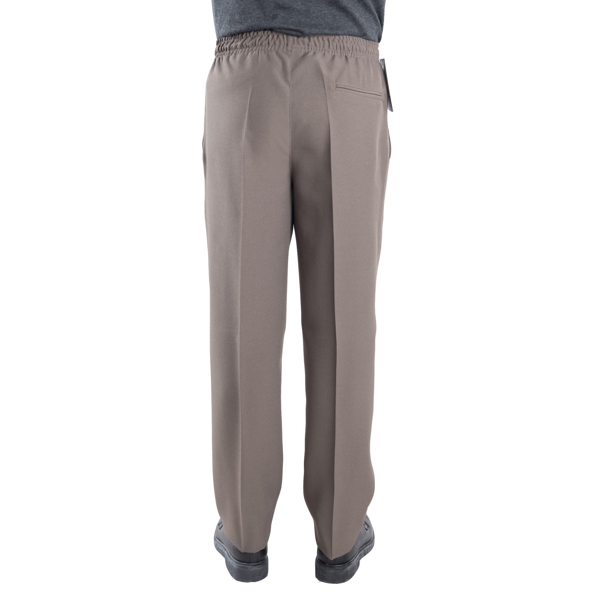 Pantalon Adaptado Elastico Fresco Para Hombre Pantalon Especial Geriatrico